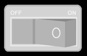 電源スイッチの画像