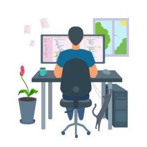 パソコンを使う人