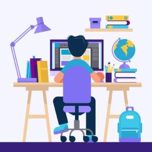 パソコンを使う人のイラスト