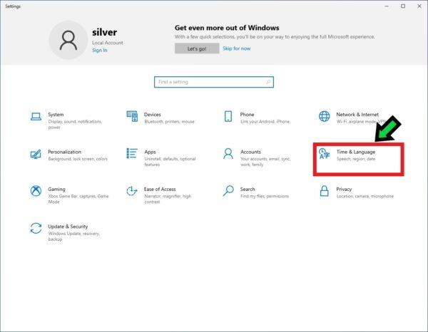 パソコンの表示言語を英語に切り替える方法【Windows10】